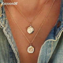 919c2f10e82 Gold Chain Star Moon Sun Choker Necklace for Women Crystal Coin Chocker  colar necklaces pendants collier femme collares kolye