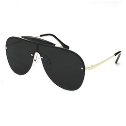 $enCountryForm.capitalKeyWord UK - Vazrobe One Piece Men's Sunglasses for women Oversized Gradient Black Brown Sun Glasses for Man Large Flat Top Lens Steampunk