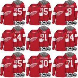 Detroit Red Wings Hoodies 100th Patch 8 Justin Abdelkader 14 Gustav Nyquist  21 Tomas Tatar 40 Henrik Zetterberg 71 Dylan Larkin Jerseys af6e49011