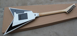$enCountryForm.capitalKeyWord NZ - 2018 New Wholesale White Body Flying V Electric Guitar whit 2 Pickups,White Pearl Inlay,Floyd Rose,Offer Customized