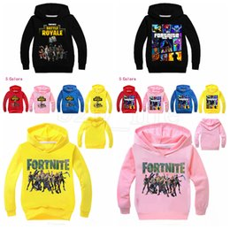 Girls hooded sweatshirts online shopping - Kids Fortnite Print Sweatshirts Baby Boys Girls Cartoon Hoodies Pullover Outwear Costumes Clothes Kids Tops OOA5259