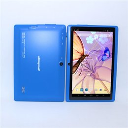 7 Wifi Tablet Australia - cheapest!!A88X Blue  M701 Black 7 inch Android 4.4 A33 Q88 Quad core 8GB ROM 512MBRAM +Wifi Tablet PC