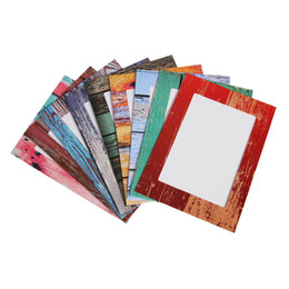 Chinese  9pcs Creative Home 7 inch Rectangle Paper Photo Frame with Wood Clips Wall Picture Album DIY Hanging Rope Frame Home Decor Gifts manufacturers
