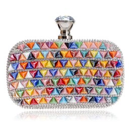 women summer clutch NZ - Colorful Ceramics Evening Bags Summer Girls Handbags Shoulder Small Day Clutch Evening Women Bags Bohemian Style Clutch