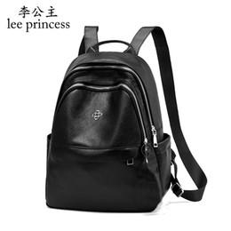 Lee Princess Fashion Backpack Women Small Travel Schoolbag For Teenage Girls Laptop With Headphone Plug Waterproof Bags