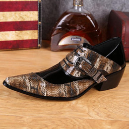 $enCountryForm.capitalKeyWord Canada - Plus Size Leopard Pointed Toe High Heels Man Banquet Oxfords Fashion Patent Leather Men's Formal Dress Party Shoes