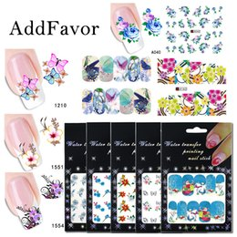 Diy Fingernail Art Australia - Addfavor 50pcs pack Nail Sticker Water transfer Fingernails Stickers Decal Nail Art Decoration DIY Design Manicure Tip Wholesale