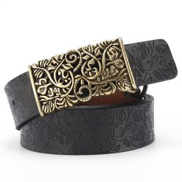 Men's Belts El Barco Faux Leather Belts For Women Embossing Print Black Red Female Jeans Belt Luxury Camel Brown Casual Strap Cinturon Mujer Matching In Colour