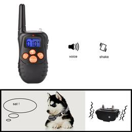 $enCountryForm.capitalKeyWord Canada - Hot Sale Good Use Creative and practical Blue Screen Waterproof Dog Collar Remote Control Training Bark Stopper 300m