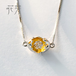 $enCountryForm.capitalKeyWord NZ - Thaya Gold Cocoon-Break Pendant Necklaces 925 Silver Pure Zircon Diamond Box Chain Link Necklace Women Elegant Jewelry Party Y1892806