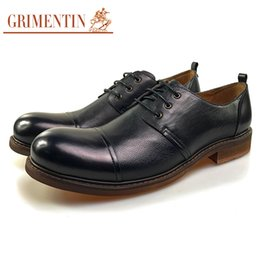$enCountryForm.capitalKeyWord NZ - GRIMENTIN Hot Sale Fashion Designer Mens Dress Shoes Genuine Leather Man Casual Shoes Black Lace-Up Formal Business Office Male Shoes