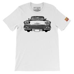 Make Custom Cars NZ - 1958 chevy impala Silhouette Art The Legend Classic Car Men T-shirts Made in USATees Custom Jersey t shirt