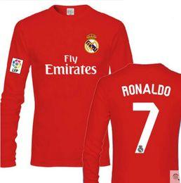 Ronaldo Grey Jersey Canada - Football loose casual cotton long-sleeved fans T-shirt men & women lovers ronaldo Messi NEYMAR JR SUAREZ top shirt Soccer Jersey