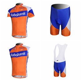 RABOBANK Cycling Short Sleeves jersey (bib) shorts Sleeveless Vest sets The  latest summer Mtb Bike Clothing Maillot Ciclismo Outdoor A41734 04ebd67ab