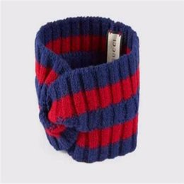 308e0257237 Brand wool Cross Headband High quality Luxury Designer Elastic green blue  red Turban Hairband For Women Girl Retro Headwraps Gifts