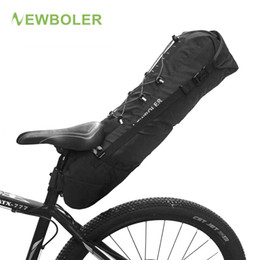 max accessories UK - wholesale Waterproof Bike Saddle Bag Large Bicycle Tail Seat Bags TPU + Polyester Cycling Rear Panniers Bike Accessories 12L Max