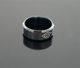 naruto ring 2019 - Wholesale- Anime Naruto Logo Symbol 8MM Stainless Steel Ring Rings Accessory cheap naruto ring