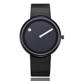 cool stylish glasses UK - Lover's Watches Cool Minimalist Style Wristwatch Stainless Steel Creative Simple Stylish Quartz Wristwatches