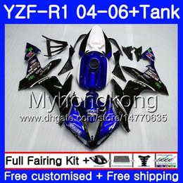 $enCountryForm.capitalKeyWord Australia - Body+Tank For YAMAHA YZF R 1 YZF-1000 YZF 1000 YZFR1 04 05 06 232HM.14 YZF1000 YZF-R1 Stock blue black 04 06 YZF R1 2004 2005 2006 Fairing