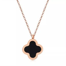 Womens gold chain link necklace online shopping - Young Womens Rose Gold  Lucky Clover Charm Necklace afbfd93951