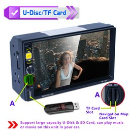 car gps mp5 2019 - 7 Inch 2 DIN Bluetooth Auto Multimedia Car DVD Stereo MP5 Player Support Mirror Link   Aux In   Rear View Camera CMO_22R
