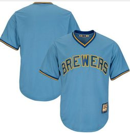 400e901a2 2018 NEW Men's Milwaukee Brewers #17 Jim Gantner 9 Bob Uecker 4 Paul  Molitor Embroidery Jersey