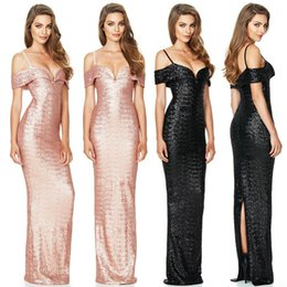 f3551369a0f Europe women s sequins evening dress fashion ladies Maxi party dress  harness deep V women dress for sale