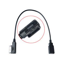 Venta al por mayor de Cable USB AUX del coche Música MDI MMI AMI a USB Interfaz de audio AUX Adaptador Cable de datos para AUDI A3 A4 A5 A6 Q5