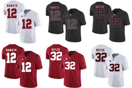 Factory Outlet- Free shipping Alabama BUTLER 32 NAMATH 12 Red White Black College  Football Jersey 4b534db75