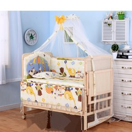 $enCountryForm.capitalKeyWord Australia - 3 grade adjust baby bed with wheels, no paint baby crib with bedding set, can joint adult bed, can be rocking cradle