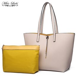 168e7391dc31 Reversible Tote Bag UK - Miss Lulu Women Shoulder Bags Reversible Handbags  Female Top-handle
