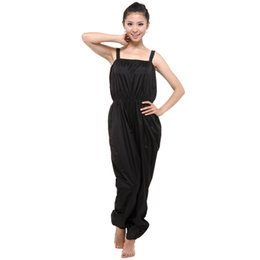 Training Jumpsuits UK - Sauna Suit for Women Sport Training Fitness Sports Suit Running Yoga PVC Sweat Quickly Lose Weight Jumpsuit Slimming Pants