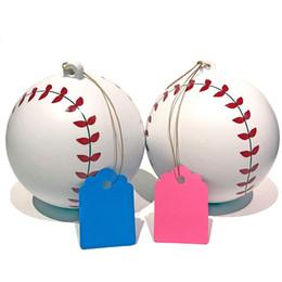 2 pièces neuves genre Reveal Baseballs bleues et roses pour votre sexe Sexe Reveal Party avec étiquettes de couleur
