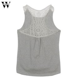 1de53974b6f0b5 2018 Women Summer Lace Vest Top sleeveless Blouse Casual Tank Tops T-Shirt  FEB27