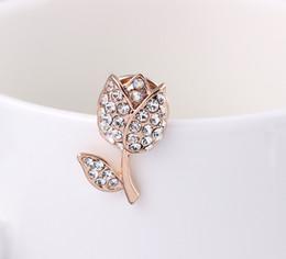 $enCountryForm.capitalKeyWord Canada - Cubic Zirconia Jewelry Set Pink Rose Lapel Pin Flower Brooch Ab044-A
