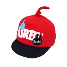896f9856492 Child Baseball Caps Cotton Kids Letter Cartoon Rabbit Unisex Adjustable  Soft Brim Hat M4914 Spring Autumn Kids Child Cap Hat