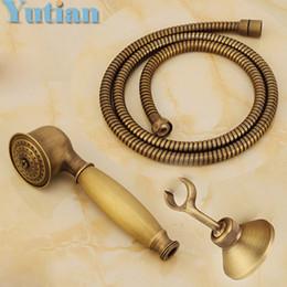 Vente en gros La douche à main en laiton antique définit la douche de main en laiton solide + tuyau de tuyau de 1.5M
