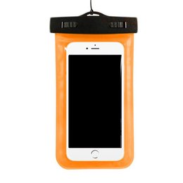 Diving Pouch UK - Waterproof phone bag PVC Protective Mobile Phone Case Pouch With Bags Diving Swimming Sports For iphone X 7 8 plus S8 s8plus