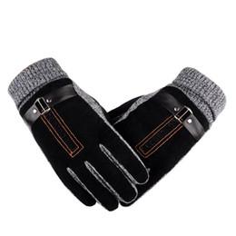 Leather Gloves For Men UK - Fur Gloves Long Leather Glove Wool Knitted For Men Womens Mitten Hand Winter Warmer Handschoenen Warm Fleece Femme Z4