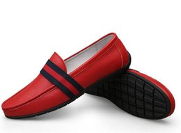 Red Leather Dresses Australia - Top grade leather Casual Flat Walking Shoes,Fashion black Red Bottom Sneakers Shoes High Top Leather Outdoor ,red black Men dress Shoes cc5