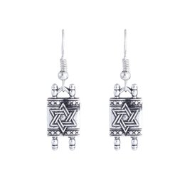 $enCountryForm.capitalKeyWord UK - 12pair lot New Fashion earring antique silver tone amulet Hexagonal star charm pendant earring for friend jewelry gift