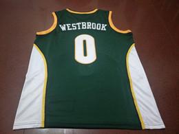 Homens # 0 Russell Westbrook jersey AUTÊNTICO colégio Vintage camisa Tamanho S-XXXL ou personalizado qualquer nome ou número de jersey