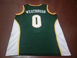 Maillot Russell Westbrook # 0 pour hommes AUTHENTIC college Vintage maillot taille S-XXXL ou personnalisé avec tout nom ou numéro