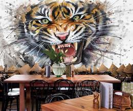 $enCountryForm.capitalKeyWord NZ - Custom 3d wall murals wallpaper 3d photo wallpaper murals Splash ink watercolor painting tiger mural TV background wall papers home decor