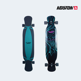 Wholesale Koston Professional Long Board Deck Completes Skateboard Inch Bamboo Canadian Maple Mixed Materials Skateboard LB024