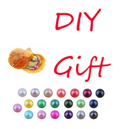 $enCountryForm.capitalKeyWord Australia - Discount promotion round 6-7mm pearl oyster Rainbow Akoya saltwater shell 32color free shipping DIY love wish gift for jewelry