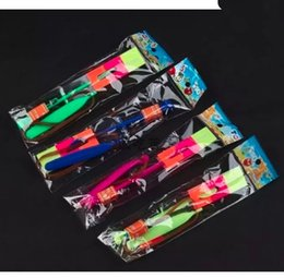 Wholesale Toys Helicopter NZ - Novelty Children Toys Amazing LED Flying Arrow Helicopter for Sports Funny Slingshot birthday party supplies Kids' GiftLED Lighted Toys