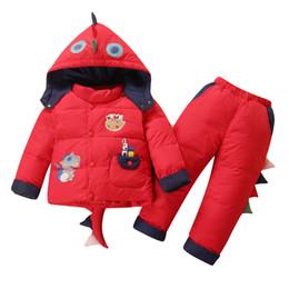 $enCountryForm.capitalKeyWord Australia - New Pattern Baby Boy And Baby Girl Children Down Jacket Suit Coat Dinosaur Cartoon Thick Winter For 0-6Y Baby In Autumn