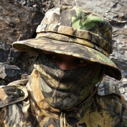 Camouflage Boonie Hats Australia - Camouflage Tactical Training  Mountaineering Boonie Caps Men Women Summer Round Combat 28711a7dad3