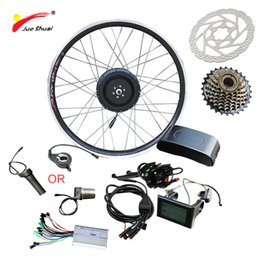 "Motor Bicycles Australia - JS 36V 500W LCD LED Electric Bike Kit Front Motor Wheel for Mountain Bike 26"" 700C Hub Electric Motor for Bicycle Free Shipping"